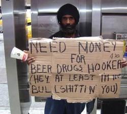 Nu mai dati bani la cersetori !