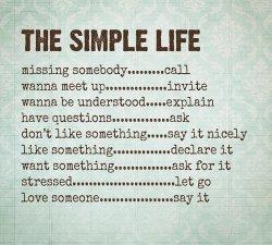 O viata simpla !